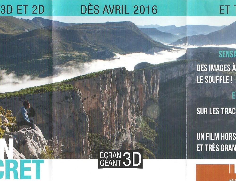 Verdon Secret film en 3D Ecociné Verdon