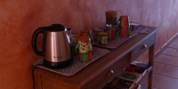 libre accès à la bouilloire pour les boissons chaude
